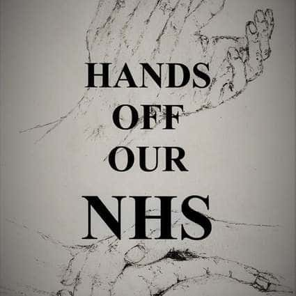 Image of Caring Hands  Hands off our NHS